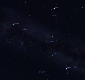 Die Sterne Altair, Deneb und Wega bilden zusammen das Sommerdreieck.